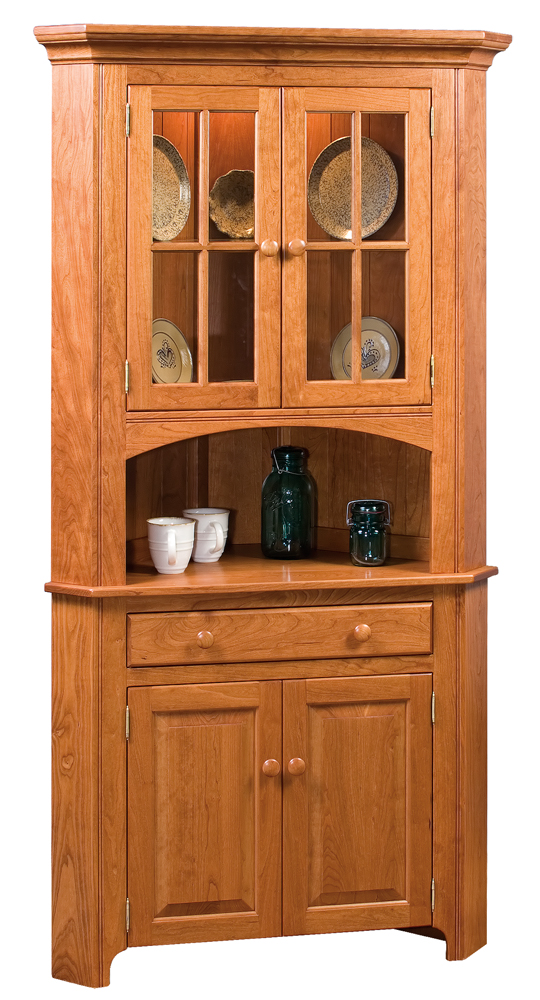 amish large cupboard corner peaceful furniture valley colonial
